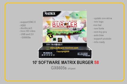 10 Software Matrix Burger S8 HD GX6605s - Download Gratis