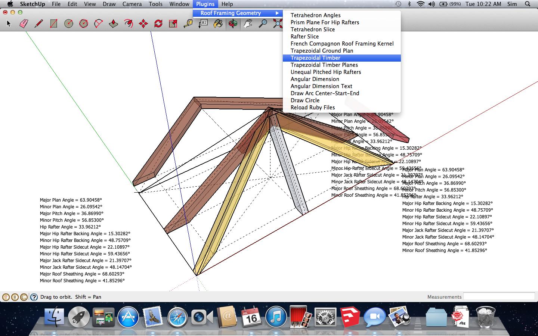 Sketchup Tetrahedron-Roof Framing Kernel Plugin | Software