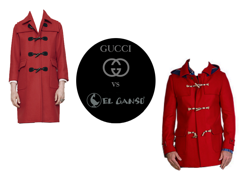 coat gucci vs el ganso