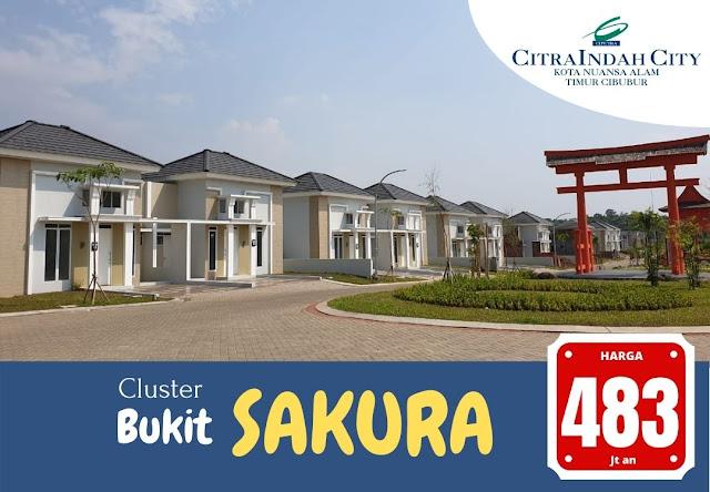 Cluster Bukit SAKURA (Real Estate)  Citra Indah City mulai dipasarkan - Harga Mulai 483 Jtan