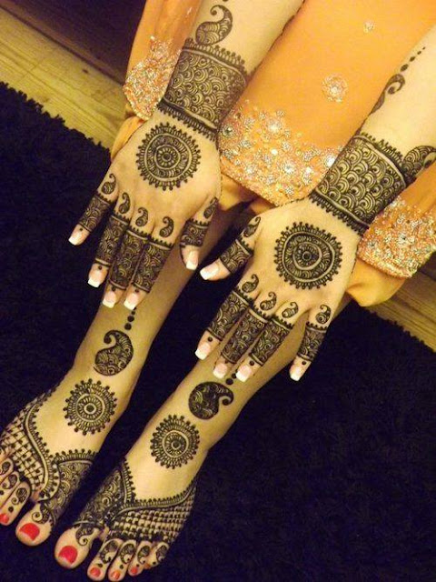 Indian Mehndi Designs For Legs