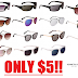 SUPER HOT!! Kenneth Cole Men's and Women's Sunglasses Only $5 + Free Shipping