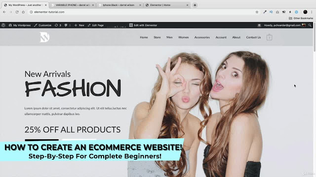 How To Make an eCommerce Website With Wordpress + Elementor