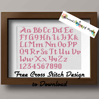 classic cross stitch font pattern to download