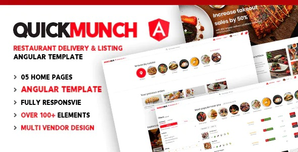 Best Restaurant Listing Angular Template