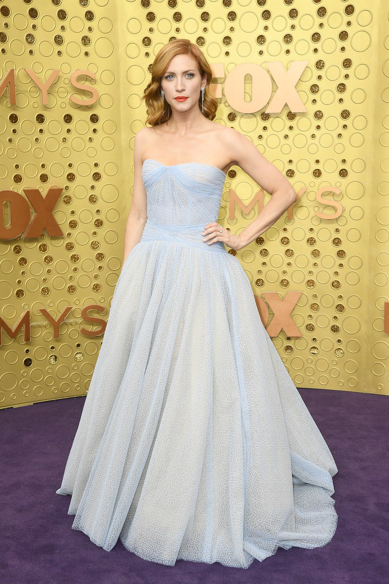 Brittany Snow channeling Cinderella at the Emmys red carpet