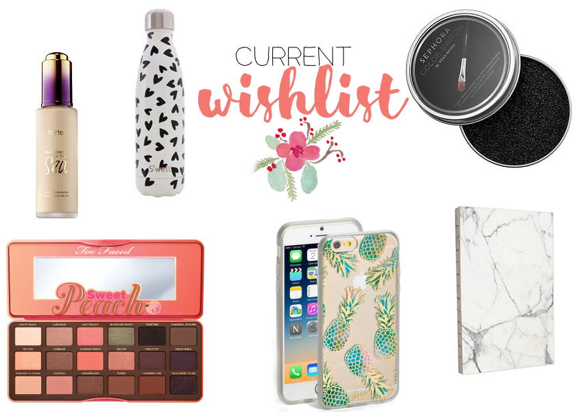 bbloggers, bbloggersca, tarte, too faced, s'well, sonix, sephora, notebook, marble, chapters, iphone case, wishlist, spring, makeup