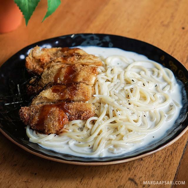 Chicken Katsu Pasta with Cream Sauce Sushi Nobu (Shabu Nobu)