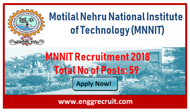 MNNIT Recruitment 2018
