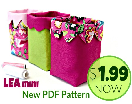 New PDF Pattern - LEA Mini Fabric Bin