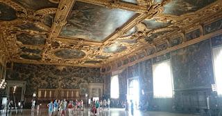 Sala del Maggior Consiglio posee enormes dimensiones.