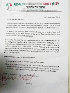 BREAKING: Sheriff, Makarfi Signs Peace Treaty, See Raw Copy