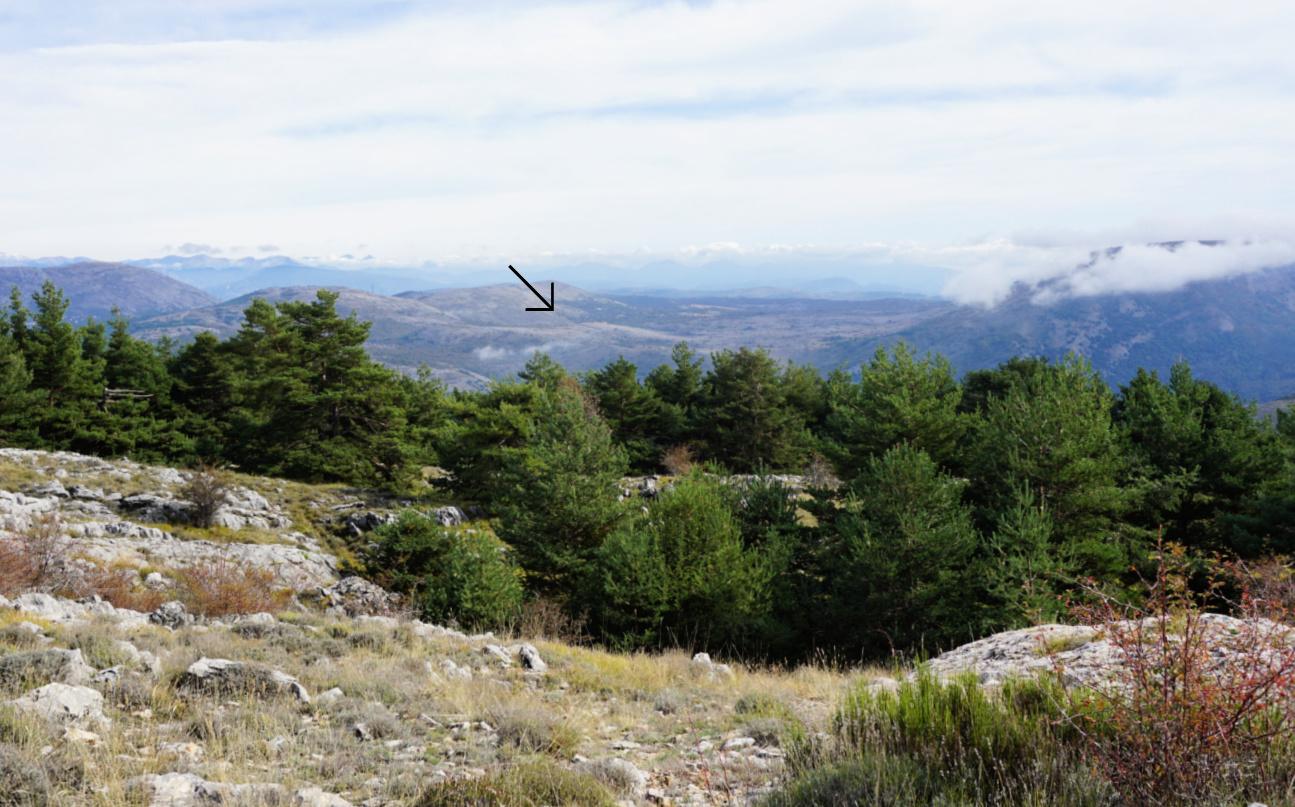 St-Barnabé plateau seen from Caussols ridge