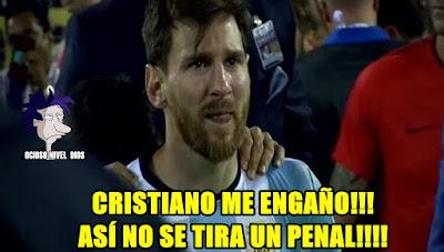 memes argentina chile 2016 messi llora
