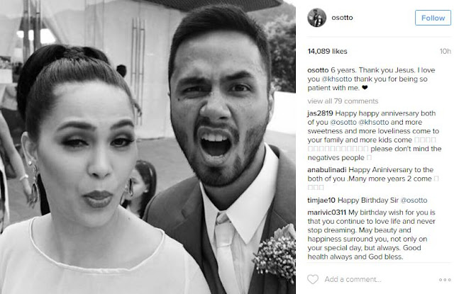 Kristine Hermosa and Oyo Sotto Celebrate Their 6th Wedding Anniversary! Must See!