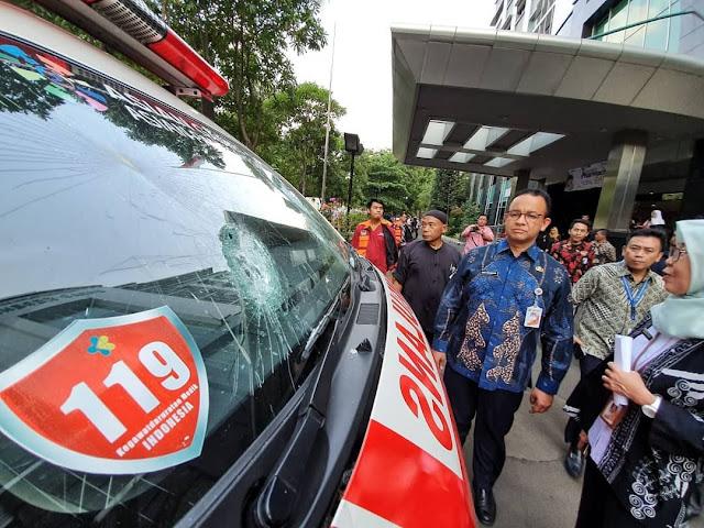 Anies Baswedan Angkat Bicara Soal Tuduhan Ambulace bawa batu dan bensin