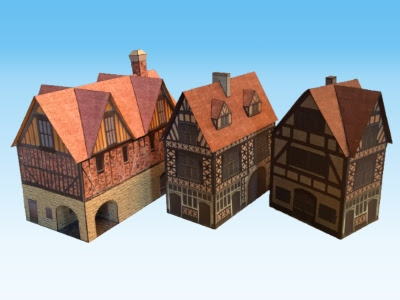 Papercraft Medieval Buildings