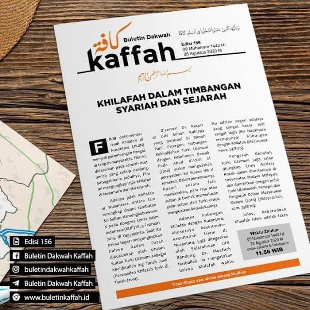 Buletin Kaffah No. 156 (09 Muharram 1442 H/28 Agustus 2020 M)
