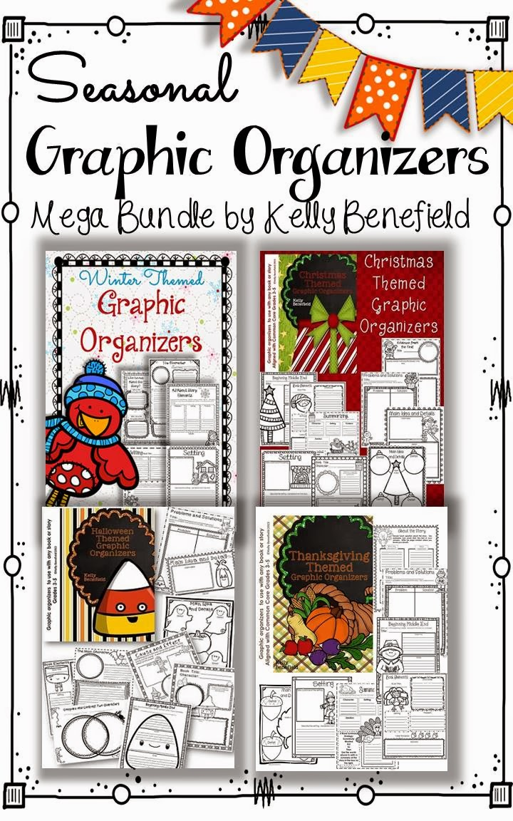 http://www.teacherspayteachers.com/Product/Seasonal-Graphic-Organizers-Bundle-1047603