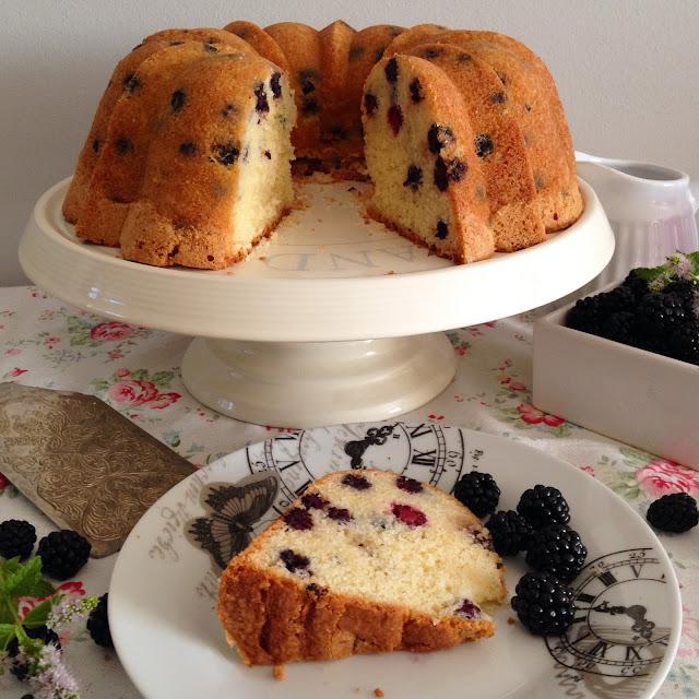 bundt cake de moras