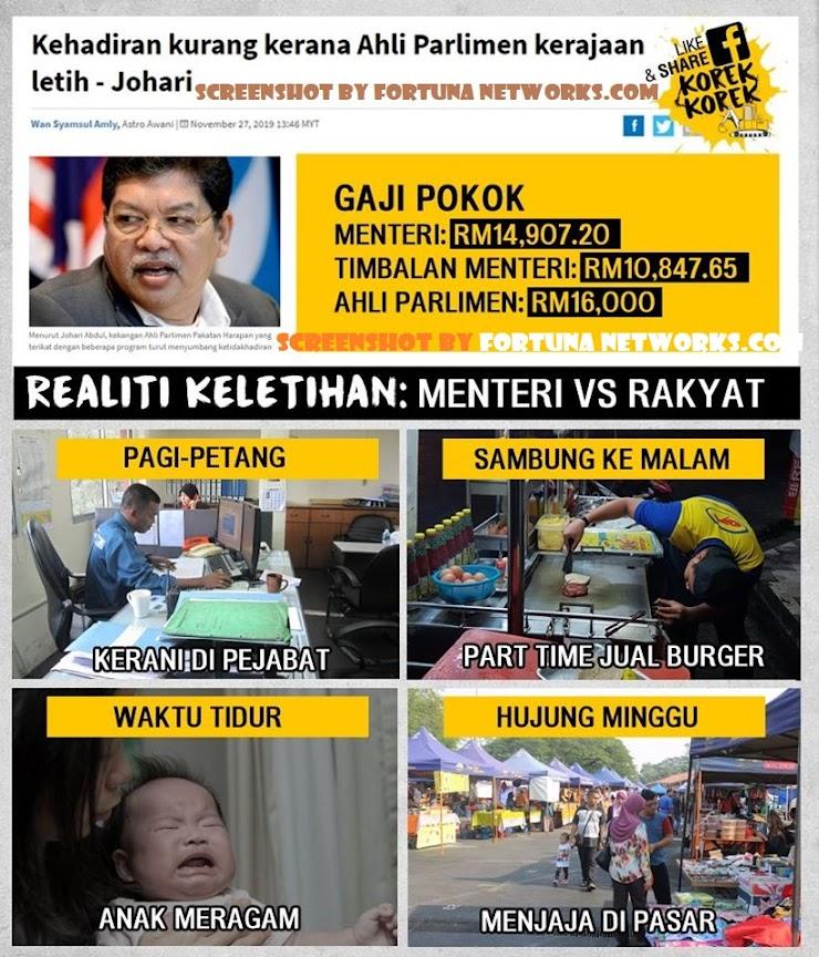 Inilah Alasan Mengarut Mengapa Ahli Parlimen Regime D4P/PH Tidak Hadir Di Parlimen