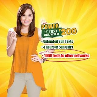 Sun TU200 - 30 days Unli FB, Unlitext, Calls and Chats for 200 Pesos