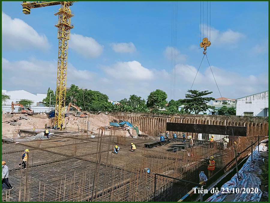 Cập nhật tiến độ thi công dự án Parkview Bình Dương ngày 23/10/2020