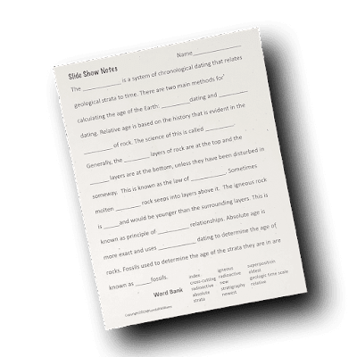 Age of the Earth Worksheet