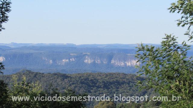 Vista panorâmica do alto do Morro da Fome, Linha Imperial, Nova Petrópolis