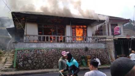 Rumah Warga Dieng Wonosobo Ludes Dilalap Si Jago Merah