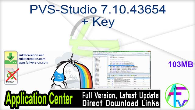 PVS-Studio 7.10.43654 + Key