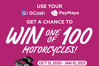 Win a motorcycle using GCash or PayMaya at #TheSMStore or via #SMCallToDeliver
