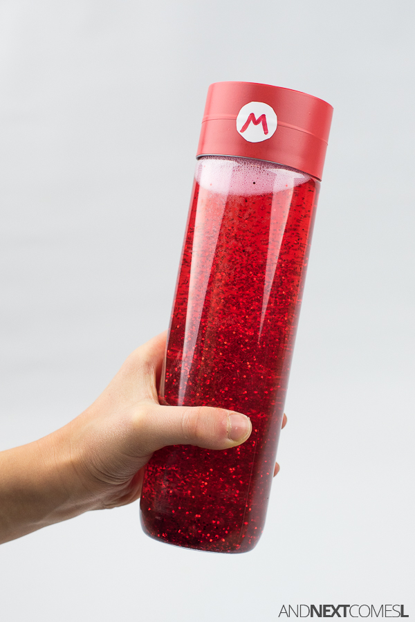 How to make a sensory bottle inspired by Mario