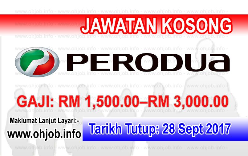 Jawatan Kerja Kosong Perodua Manufacturing logo www.ohjob.info september 2017