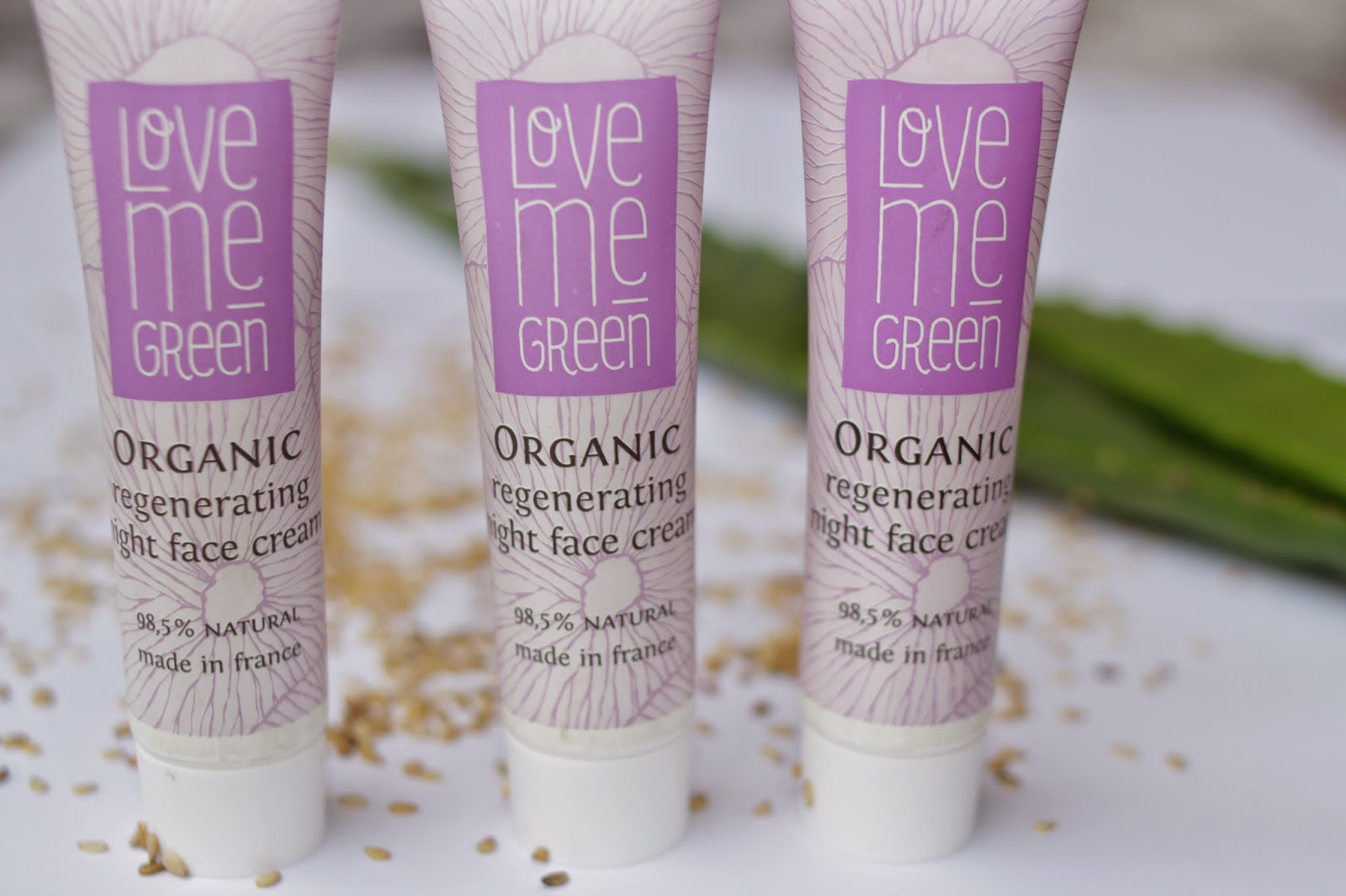 Love me Green Organic Regeneration Night face Cream 15ml Proben