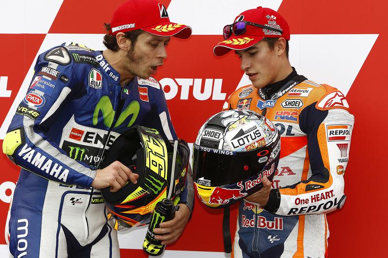 Hubungan antara Valentino Rossi dan Marc Marquez tidak akan pernah bisa pulih ? . . waduh rival abadi nih ?