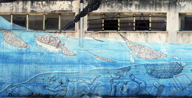 Street Art By Blu in Messina At Teatro Pinelli Occupato. - sea details