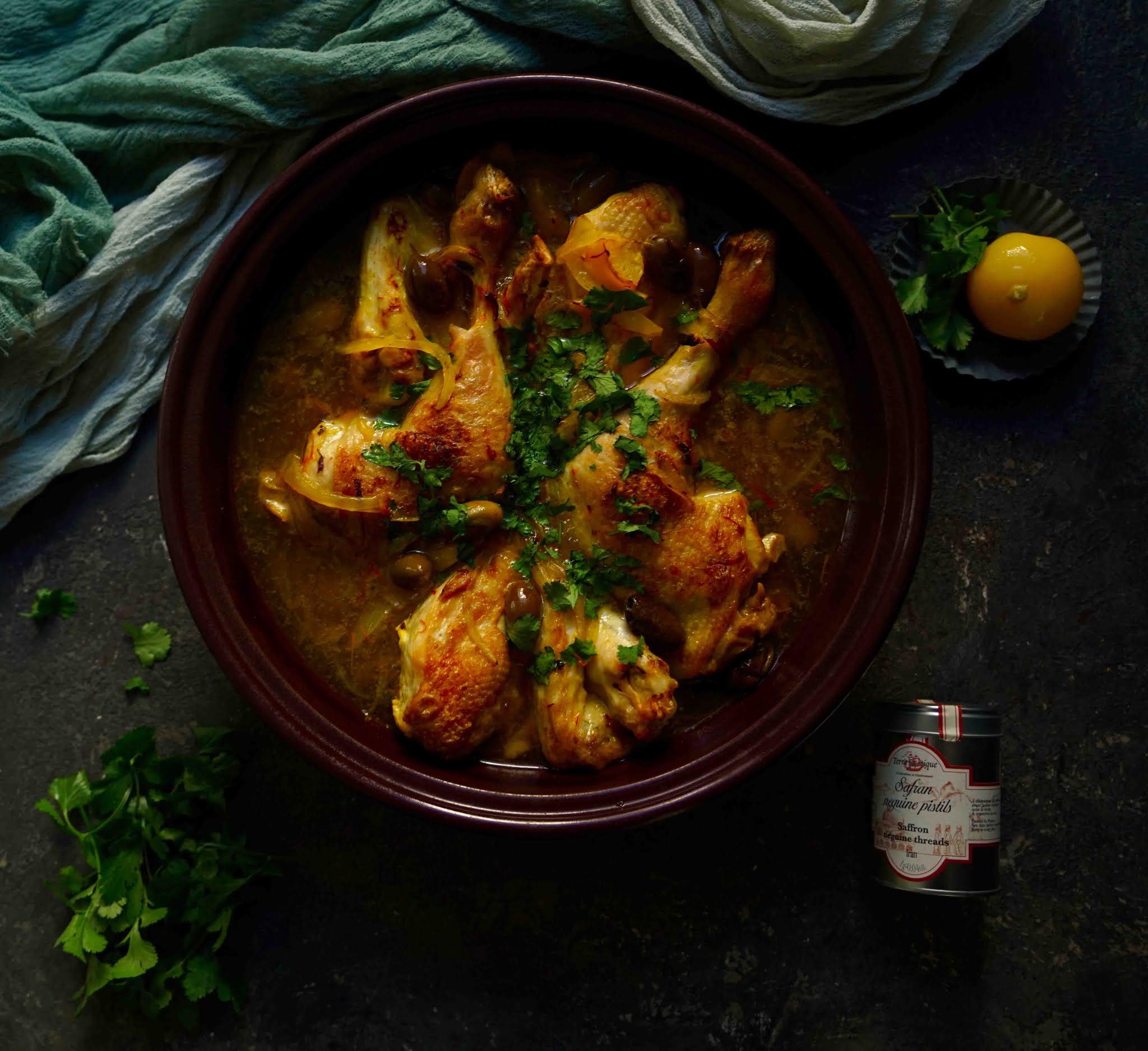 tajine , plat reconfortant, citron confit
