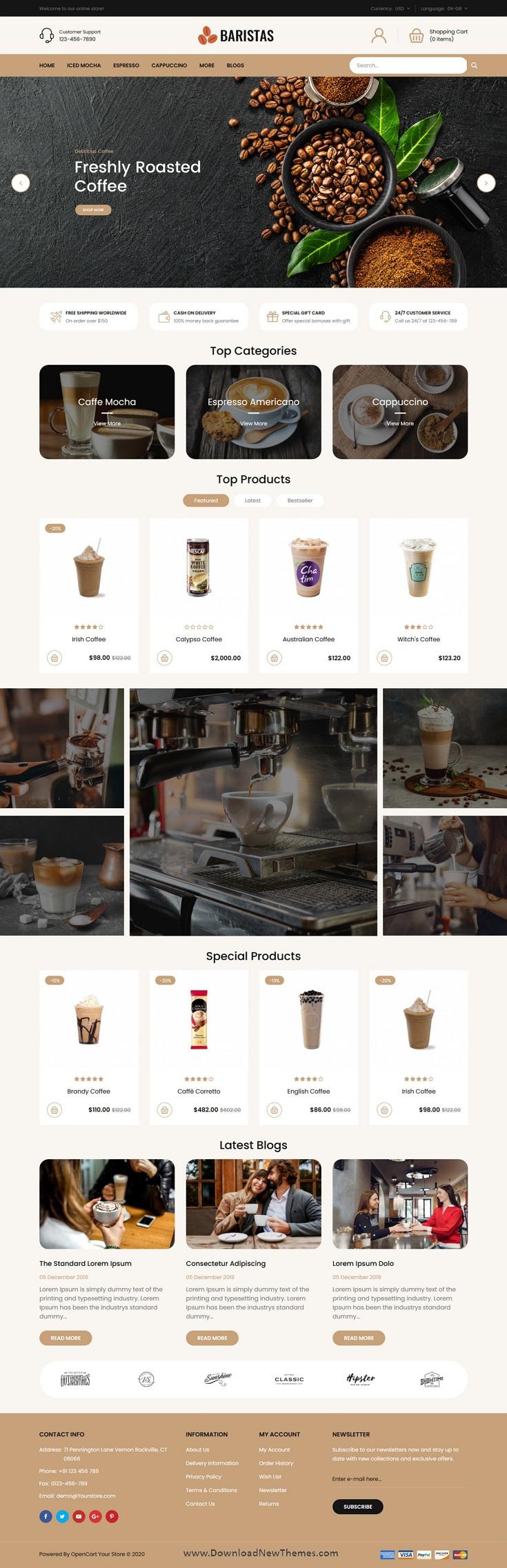 Coffee Responsive OpenCart Theme