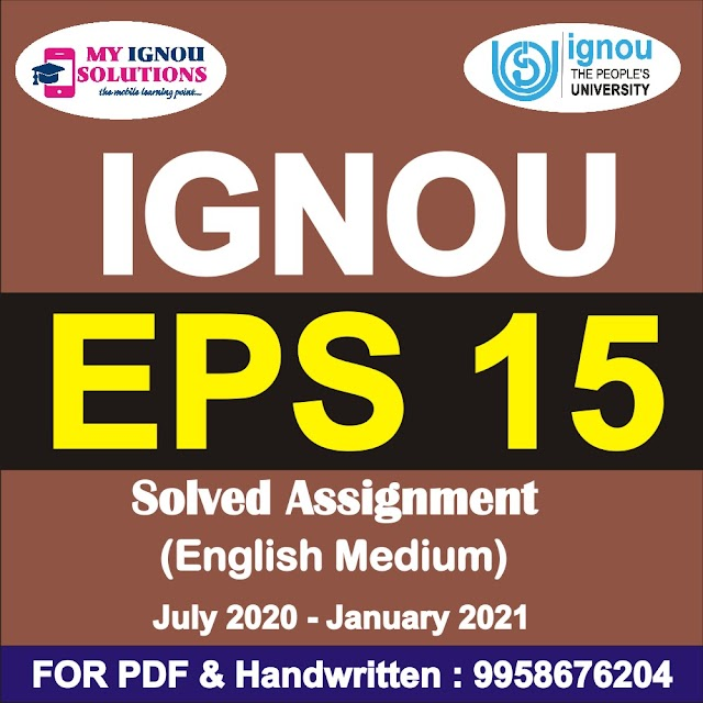 EPS 15 Solved Assignment 2020-21