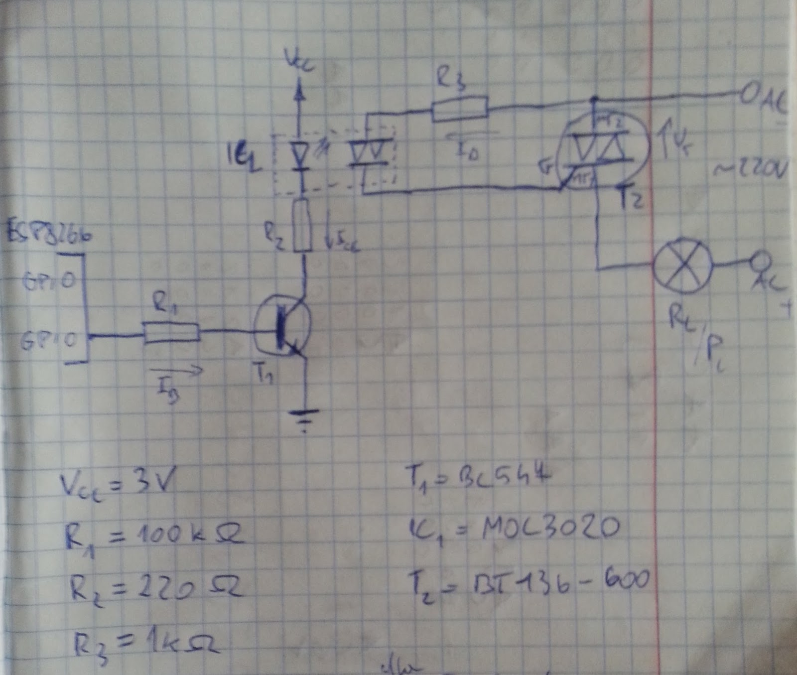 Using Optoisolator And Triac With Mcu To Switch Light On Off Need