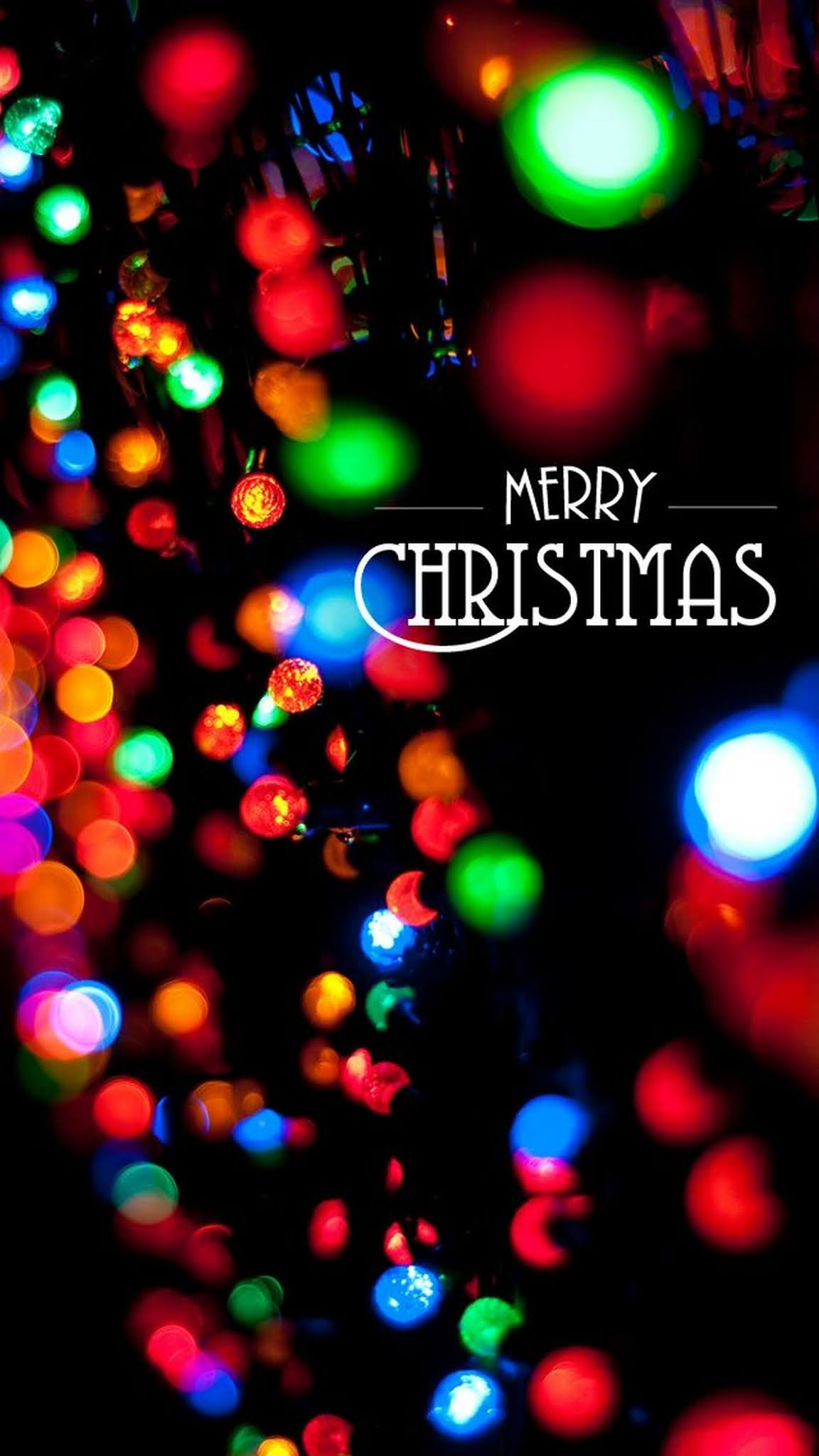 Colorful Merry Christmas HD Wallpaper for iPhone