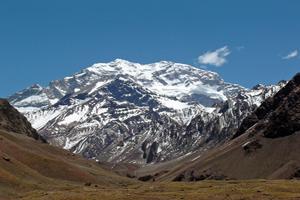 El cerro Aconcagua, la montaña de mayor altura del continente americano