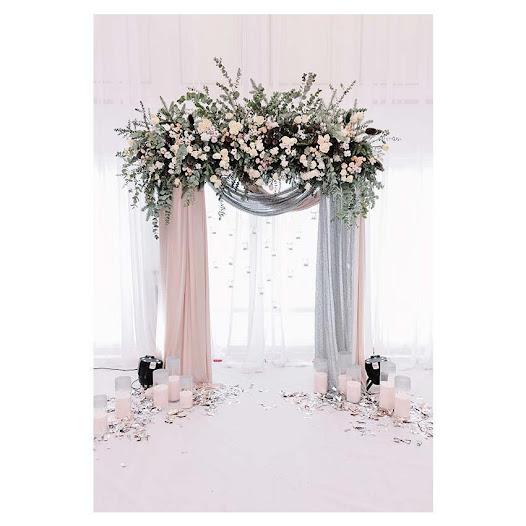 Romantic Flower Curtain Door
