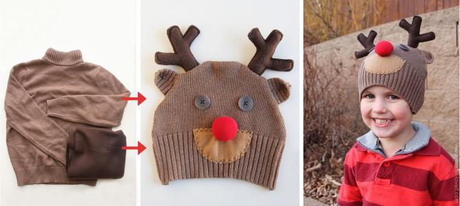 Шьем шапку из свитера мастер класс сделай сам #7