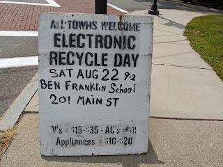 One-Day Electronics Recycling Event - Sat - Aug 22