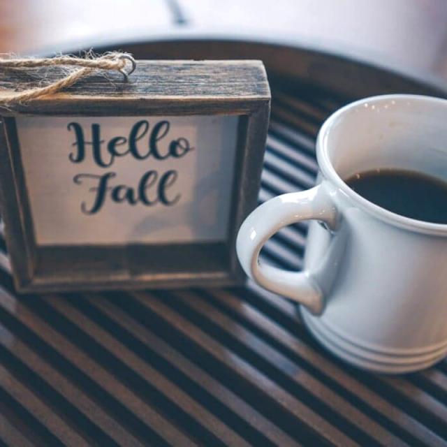 Coffee on a breakfast tray