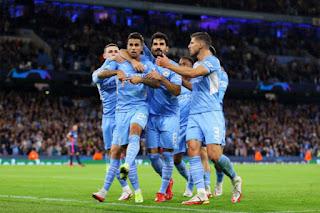 سجل مانشستر سيتي 6 أهداف واكتسح لايبزيغ  الأربعاء في الجولة الأولى من دوري أبطال أوروبا