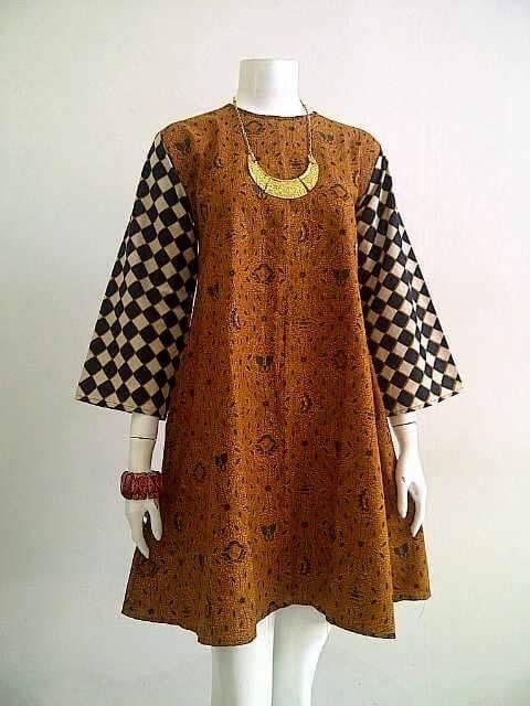 25 Model Baju Batik Gamis 2018
