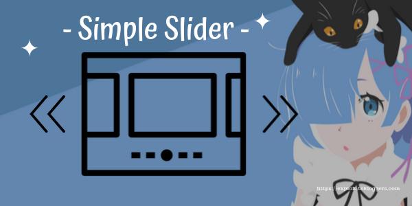 Cara Membuat Slider Di Postingan Blog Simpel